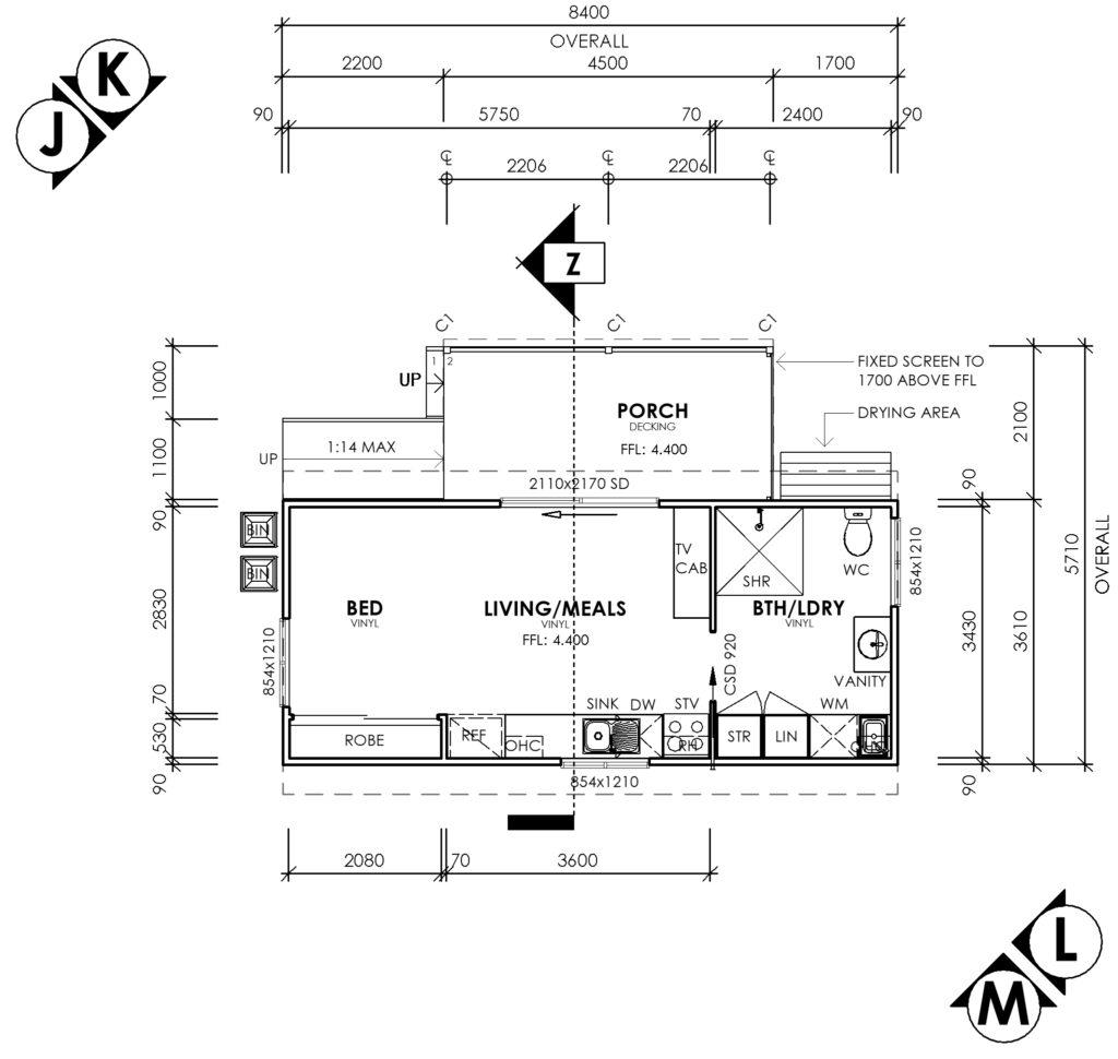 Tiny house floor plans Southwest WA